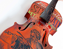 Engraved violin