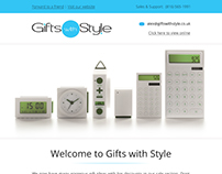 Email Template Design for Gifts E-commerce Style