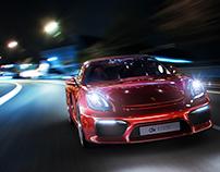 Red Bullet By Night (Porsche Boxster Spyder 2016)