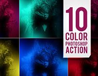 10 Color Photoshop Actions