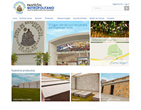 Ecommerce website - Panteón Metropolitano