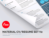Material Style Free Resume Template & Cover Letter