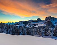 Sunrise over Gantrisch