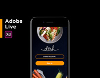 Dish for Adobe Live | UX UI, 2018