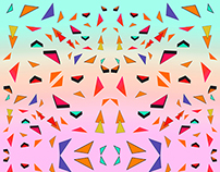 Triangle Tropical Confetti