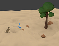 Creating my first low poly world in blender