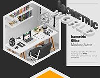 Isometric Office Scene Mock-up