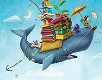Ilustración para Biblioteca Colegio Valle de Filadelfia