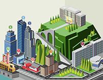 """infographics """"City"""""""
