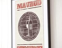 Poster. Bulgarian wines