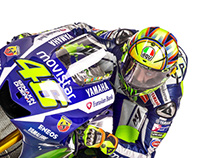 Movistar Yamaha MotoGP - Graphic design 2015