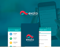 Design mobile app Exato Vestibulares