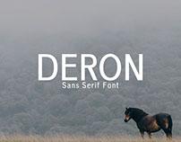 Free Deron Sans Serif Font