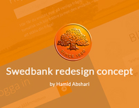 Swedbank website redesign concept