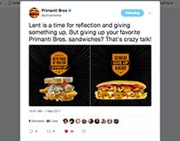 Primanti Bros. Lenten Sandwich Promotion via Twitter