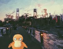 Pokemon painted
