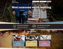 Web Design Concept UK Dating Site The Guardian Soulmate