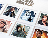 ROYAL MAIL Star Wars Stamps 2015
