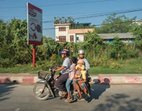 Morning commute in Mandalay