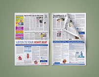 Patient education through newspaper advertorials