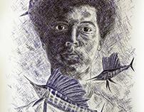 Self Portrait (with Sailfish)