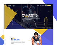 Fitness Landing Page Concept