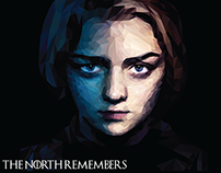 Arya Stark — Low Poly Portrait