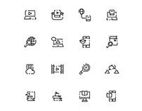 E learning Icons Set