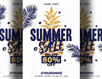 Summer Sales Flyer Template