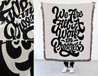 We Are All A Work In Progress Blanket