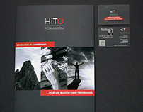 Corporate trifold brochure and business card