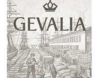 Gevalia Coffee Packaging Illustrated by Steven Noble
