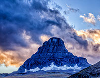 A Glacier NP Sunset