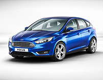 VRED - New Ford Focus - Studio CGI & Retouching