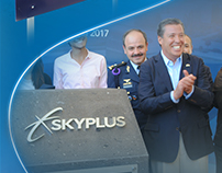 SkyPlus.- Diseño de logotipo e identidad gráfica.