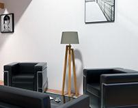 ~ Living Room / Unité d'Habitation / Le Corbusier ~