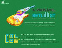 A Provável Setlist | DIGITAL/PRINT