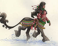Centaur Girl in The Snow