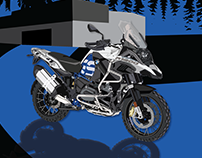 BMW R1200 GS illustration and poster
