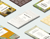 Wount - Chocolate packaging design and mockup concept