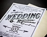 Steampunk Wedding Invite