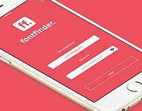 FontFinder App Concept