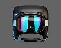 SNOWBOARDING HELMET APP ICON 3D