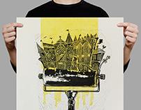 Lino Printmaking Poster Linocity