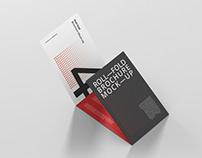 Roll-Fold Brochure Mockup - Landscape Din A4 A5 A6
