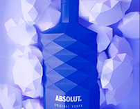 Lowpoly paper Absolut bottle