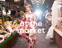 At the market for iMute Magazine
