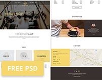 Be Latte - Coffee shop free PSD template