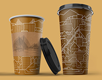 Disposable cups «City» — «Mir Upakovki»