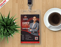Employee Photo Identity Card PSD